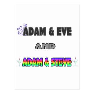 Adam & Eve & Adam & Steve Postcard