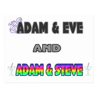 Adam Eve Adam Steve Post Cards