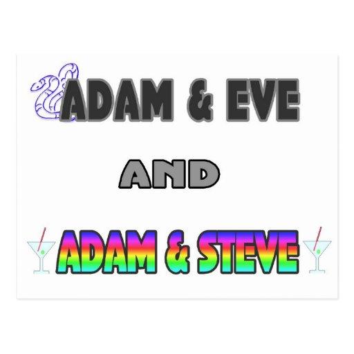 Adam & Eve & Adam & Steve Post Cards
