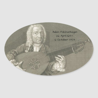 Adam Falckenhagen Oval Sticker