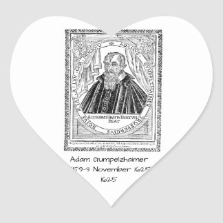 Adam Gumpelzhaimer 1625 Heart Sticker