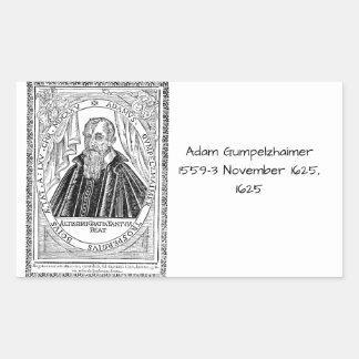Adam Gumpelzhaimer 1625 Rectangular Sticker