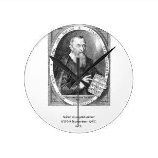Adam Gumpelzhaimer Round Clock