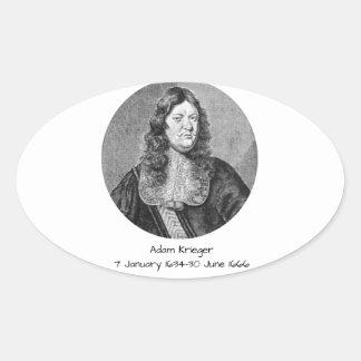 Adam Krieger Oval Sticker