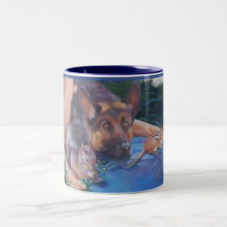 Adam Naming Animals German Shepherd Mugs