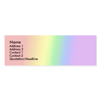 Adam - Rainbow - Profile Cards - 001 Pack Of Skinny Business Cards