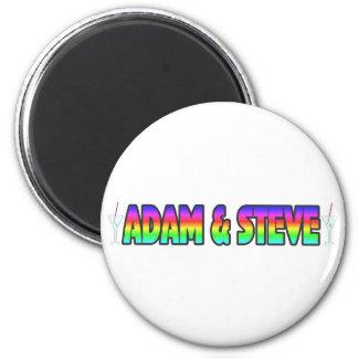 Adam & Steve 6 Cm Round Magnet