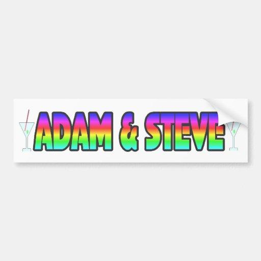 Adam & Steve Bumper Sticker