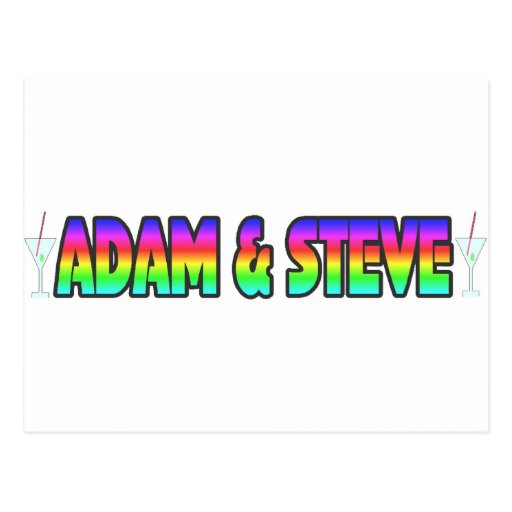 Adam & Steve Postcard