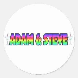 Adam & Steve Round Sticker