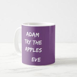 Adam, try the apples. Eve Purple Mug