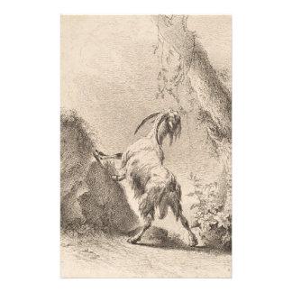 Adam von Bartsch Goat in a Landscape 1805 Stationery