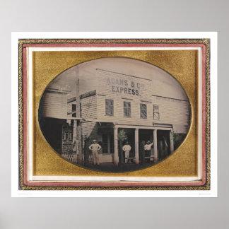Adams & Co. Express building (40129) Poster