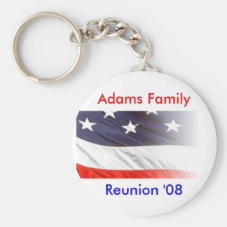 Adams Family Reunion Basic Round Button Key Ring