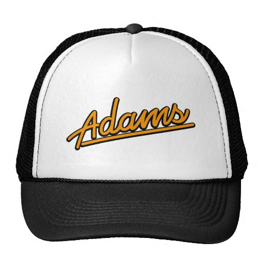 Adams in orange mesh hats