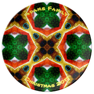 ADAMS ~ Personalized Christmas Design ~ Plate