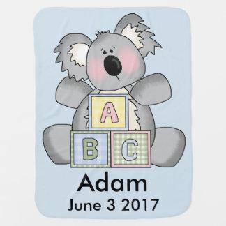 Adam's Personalized Koala Baby Blanket