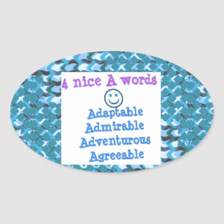 ADAPTABLE Agreeable Admirable - LOWPRICE GIFTS Oval Sticker