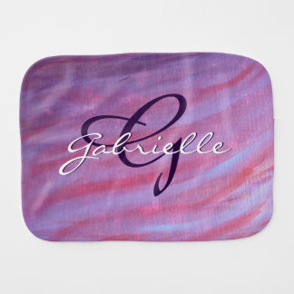 Adaptable Baby | Custom Pink Purple Chic Zebra | Burp Cloth