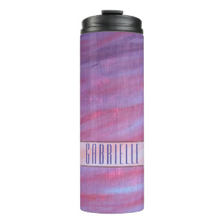 Adaptable Bar | Custom Girly Pink Purple Zebra | Thermal Tumbler
