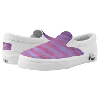 Adaptable Fashion | Pink Purple Fun Zebra Abstract Slip On Shoes