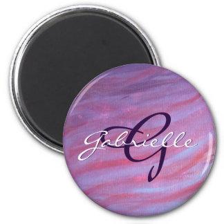 Adaptable Kitchen | Name Chic Pink Purple Zebra | Magnet