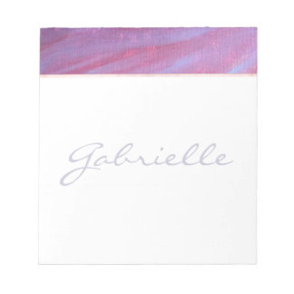 Adaptable Office | Name Chic Purple Pink Zebra | Notepad