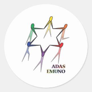 Adas Emuno Classic Round Sticker