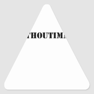 #adaywithoutimmigrants triangle sticker