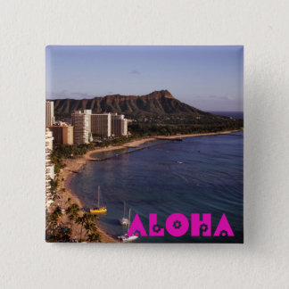 Add a Hawaiian Vacation Photo 15 Cm Square Badge