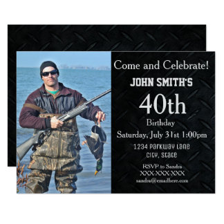 Add A Hunting or Hobby Photo Men's Birthday Invite