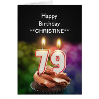 Add a name, 79th birthday card