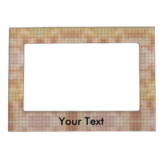Add A Name Faux Brown Weave Magnetic Frame
