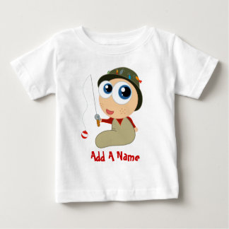 Add A Name Fishing Baby T-shirt