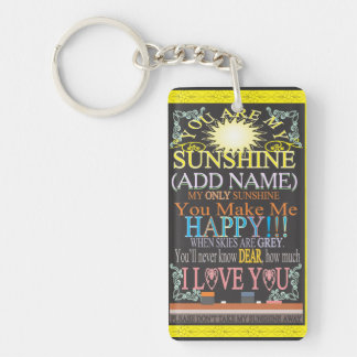 Add a Name Sunshine Vintage Chalkboard Key Ring