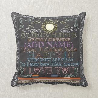 Add a Name Sunshine Vintage Chalkboard Cushion