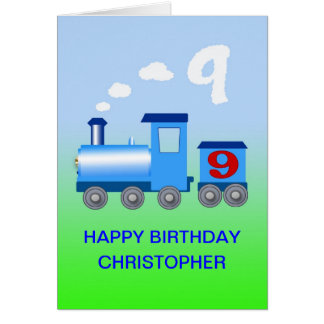 Add a name to a 9th birthday card