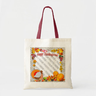 Add a photo ~  Thanksgiving Design Bag