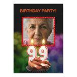 Add a picture, 99th Birthday party Invitation