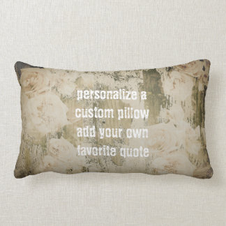 add a quote pillow shabby chic faded roses
