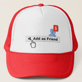 Add as Friend Trucker Hat