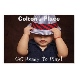 Add Child's Photo, Name & Text Poster