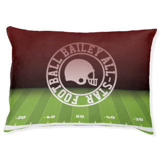 Add Dog's Name. All-American Football Player. Pet Bed