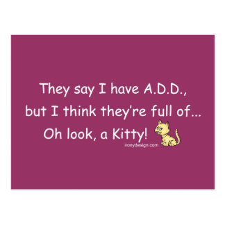 ADD full of Kitty Humor Postcard