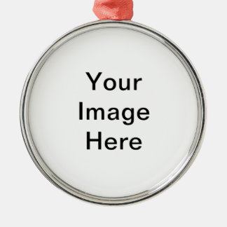 Add image and/or text to products Silver-Colored round decoration