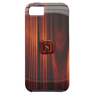 Add Initial Cool Varnished Wood Look iPhone 5 Case