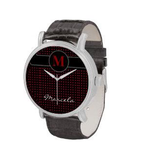 add initial / polkadots wristwatches