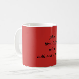 Add name and beverage choices mug