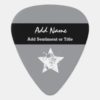 Add Name and Sentiment Gray Custom Name G034 Plectrum