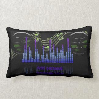 Add name Cool DJ Sound level Engineer Music gifts Lumbar Cushion